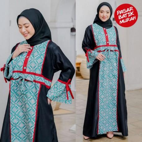 Gamis Dailywear Batik Biru