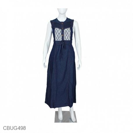 Gamis Jeans U Cansee Basic Pocket Dark Blue