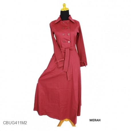 Gamis Katun Coat Ervy