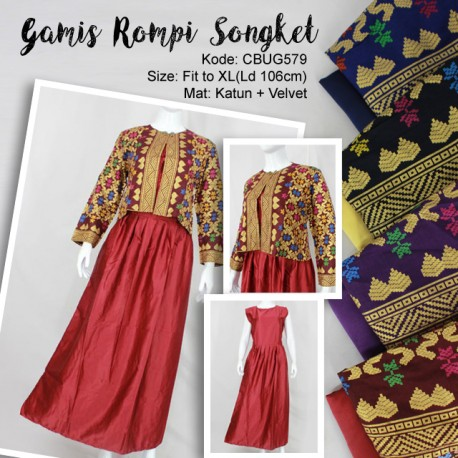 Gamis Rompi Songket