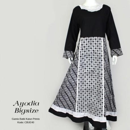 Gamis Syari Ayodia Batik Cap Katun Primis