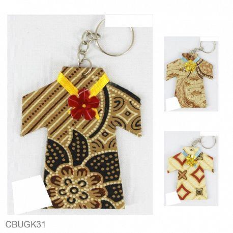 Gantungan Kunci Batik Model Baju Kembang Kawung