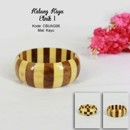 Gelang Kayu Batik Bester Coklat