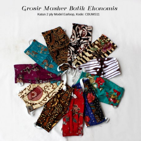 Grosir Masker Batik Murmer Earloop (Isi 12 pcs)