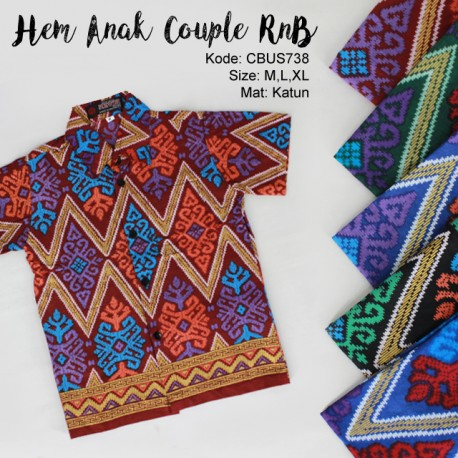 Hem Anak Couple Family RnB Motif Songket