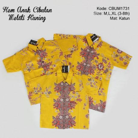 Hem Batik Anak Katun Cibulan Melati Kuning