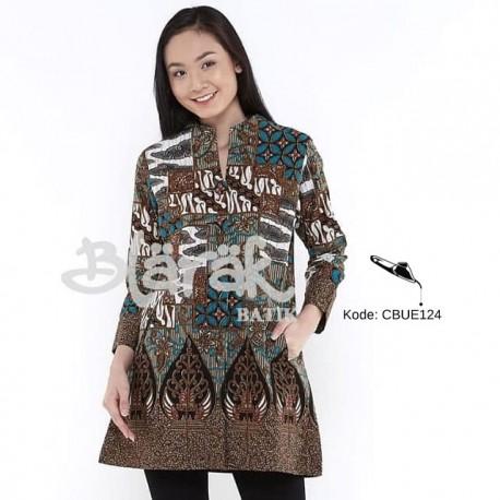 Hem Batik Blarak Motif Tambal Sewu Tosca