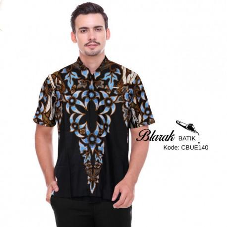 Hem Batik Blarak AHY 4 Hitam Biru