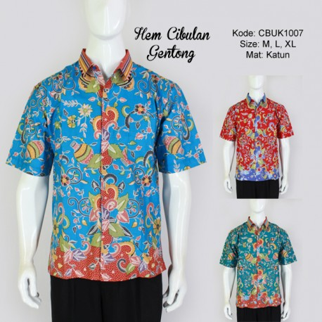 Hem Batik Couple Cibulan Gentong
