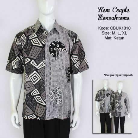 Hem Batik Couple Monochrome