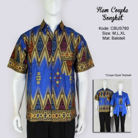 Hem Batik Couple Songket