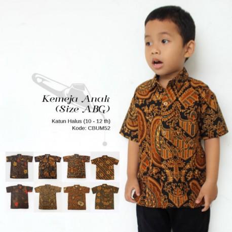 Hem Batik Jawa Klasik Anak Presiden Size ABG