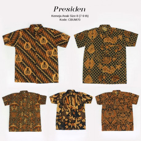 Hem Batik Jawa Klasin Anak Presiden Size 8