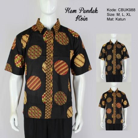 Hem Batik Pendek Koin