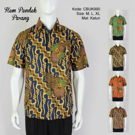 Hem Batik Pendek Parang Warna