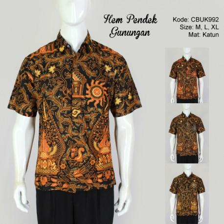 Hem Batik Pendek Gunungan Klasik