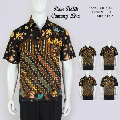 Hem Batik Pendek Motif Cemeng Liris