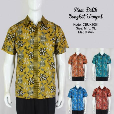 Hem Batik Pendek Motif Songket Tumpal