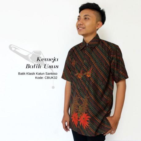 Hem Batik Pendek Liris