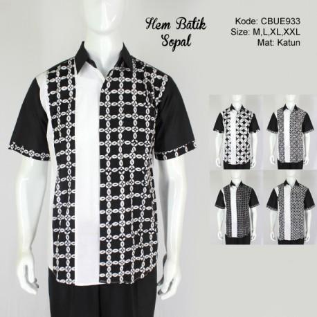 Hem Batik Sopal Motif Kotemporer