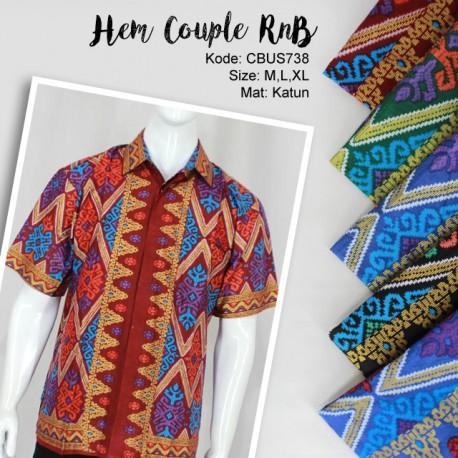 Hem Couple Family RnB Motif Songket