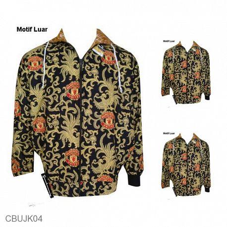 Jaket Batik Back And Forth Motif Batik Bola MU