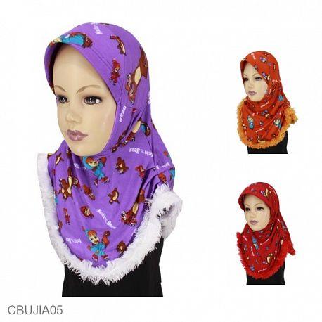 Jilbab Anak Masha Bulu