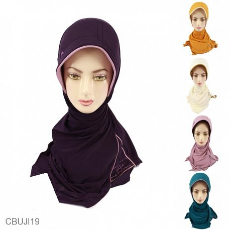 Jilbab Belah Samping Plipit Kalem