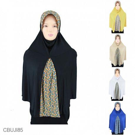 Jilbab Bergo Kombinasi Ploi Seruni Kecil