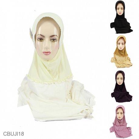 Jilbab Instan Jumbo Salur Likra Payet