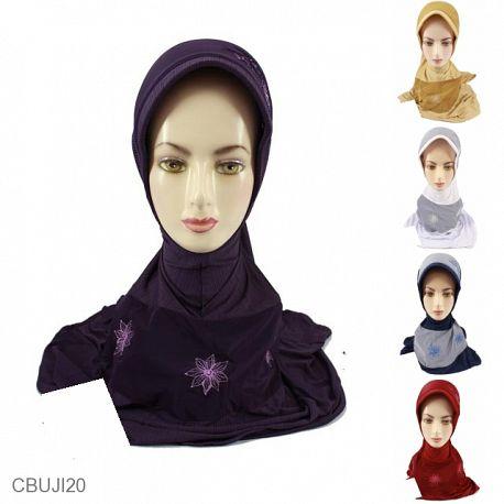 Jilbab Instan Salur Sekar Bordir