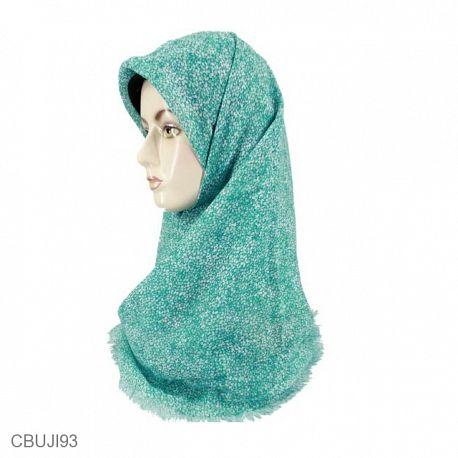 Jilbab Rawis Segiempat Shabby Flowy