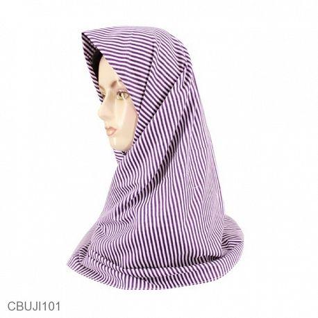 Jilbab Segi Empat Katun Ima Monochrome Line