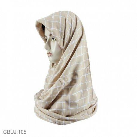 Jilbab Segi Empat Katun Ima Monochrome Square