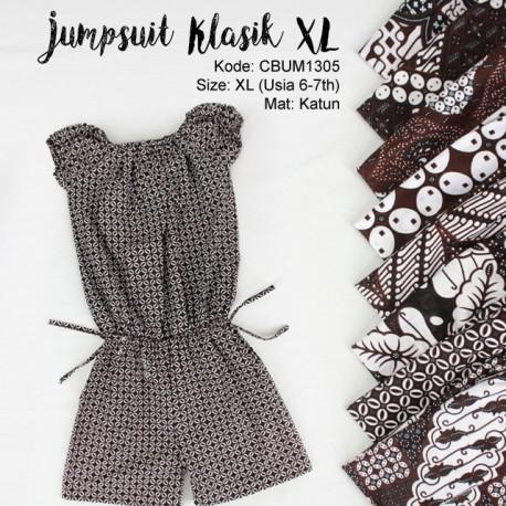 Jumpsuit Anak Motif Klasik Size XL
