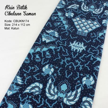 Kain Batik Cibulan Motif Semen Biru