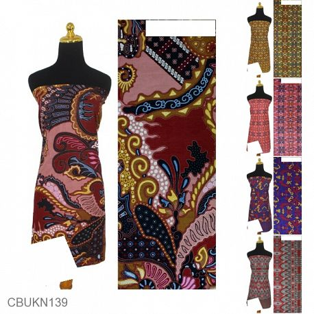 Kain Batik Printing Motif Kontemporer Warna