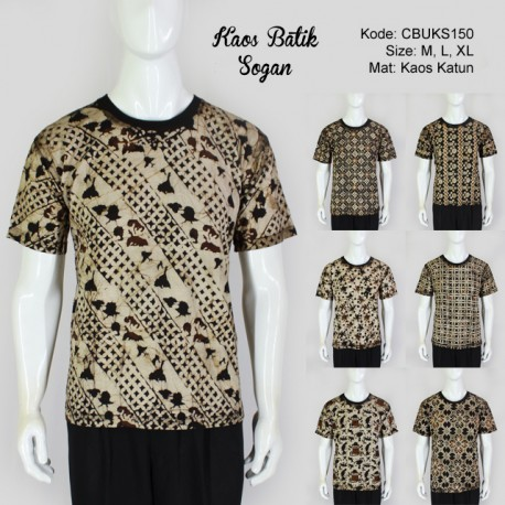 Kaos Batik Cap Sogan