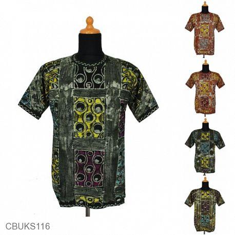 Kaos Batik Motif Abstrak Lukis Kontemporer