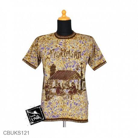 Kaos Batik Motif Gubuk Sawah