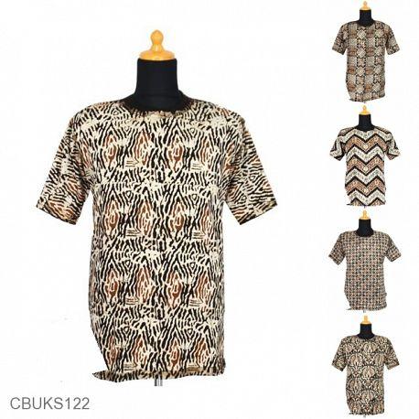 Kaos Batik Motif Batangan