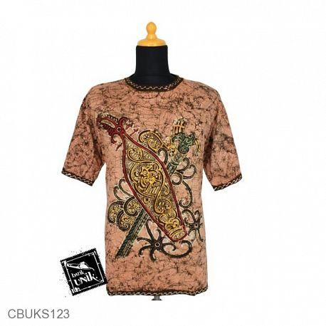 Kaos Batik Motif Kotemporer Ukir