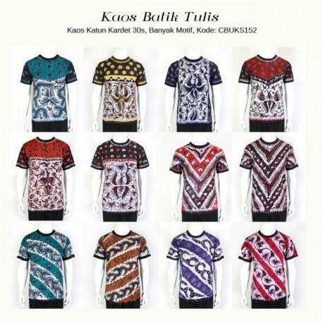 Kaos Batik Tulis Khas Tuban Kerah Oblong