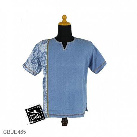 Kaos Jeans Jeans Motif Tema Batik
