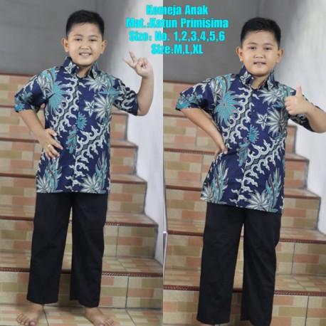 Kemeja Anak Batik Katun Motif Pakis Kelabang (SD)