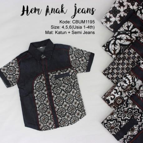 Kemeja Anak Jeans Klasik No 4-6