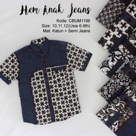 Kemeja Anak Jeans Klasik No 10-12