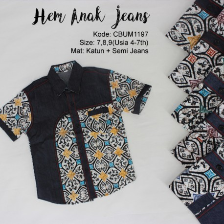 Kemeja Anak Jeans Klasik No 7-9