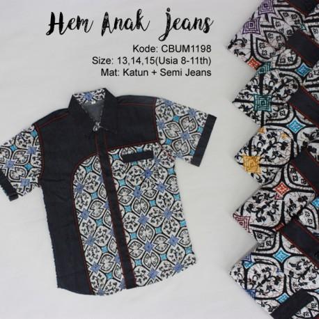 Kemeja Anak Jeans Klasik No 13-15