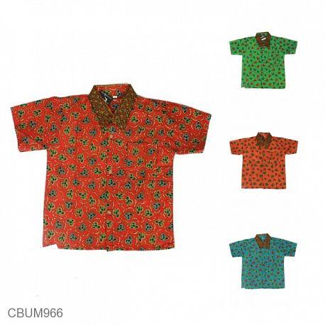 Kemeja Batik Anak Motif Godhong Warna Size L